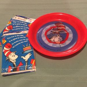 Dr Seuss Party 16 invitations & Hologram plate NEW
